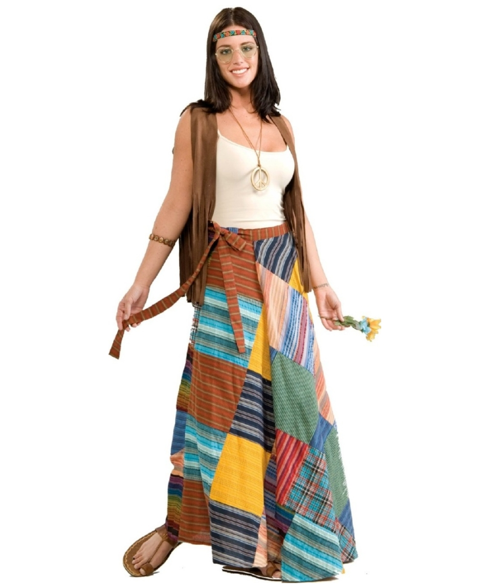 Patchwork Wrap Skirt Costume