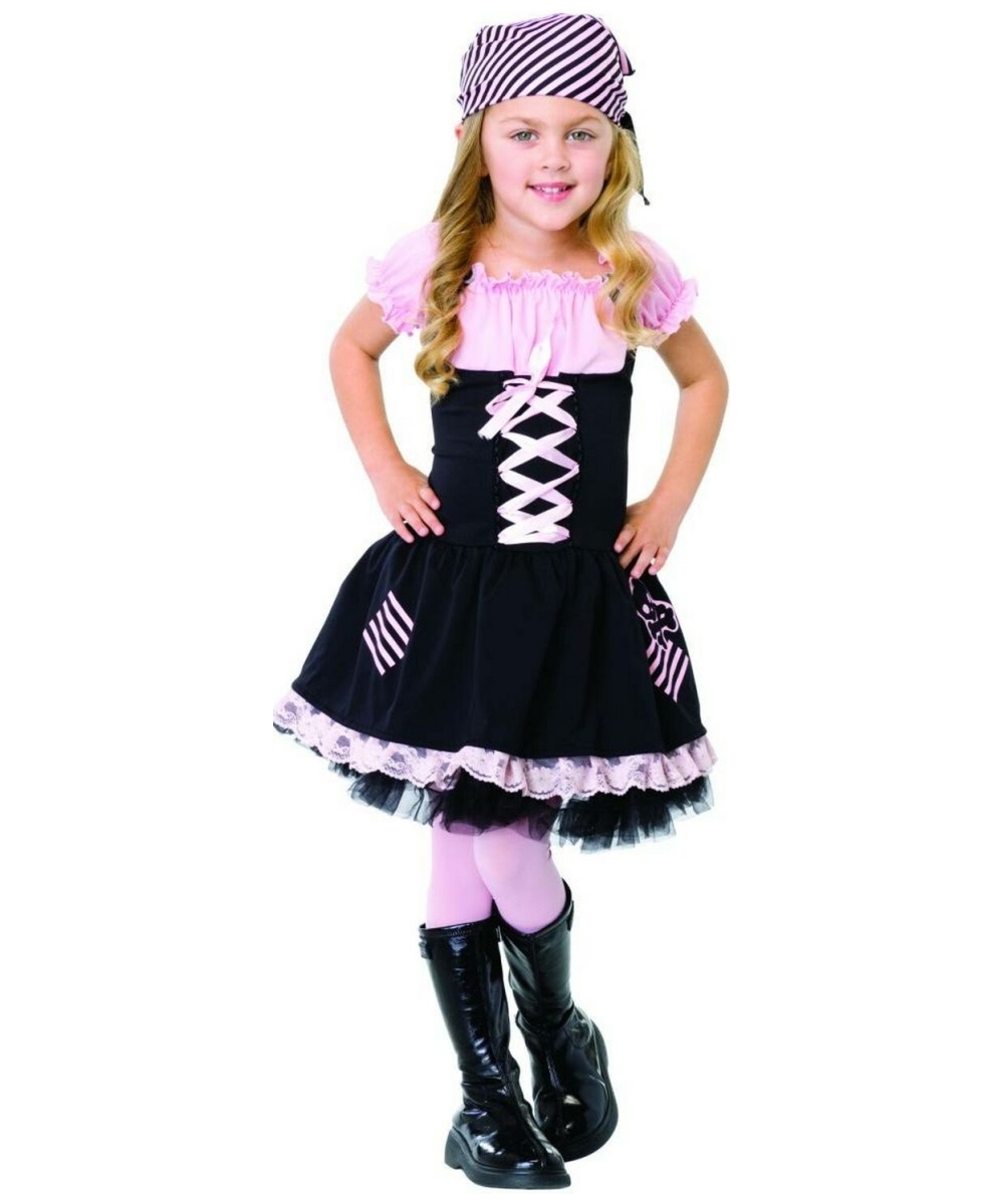 sc 1 st  Wonder Costumes & Little Pirate Girl Kids Costume - Girls Costumes