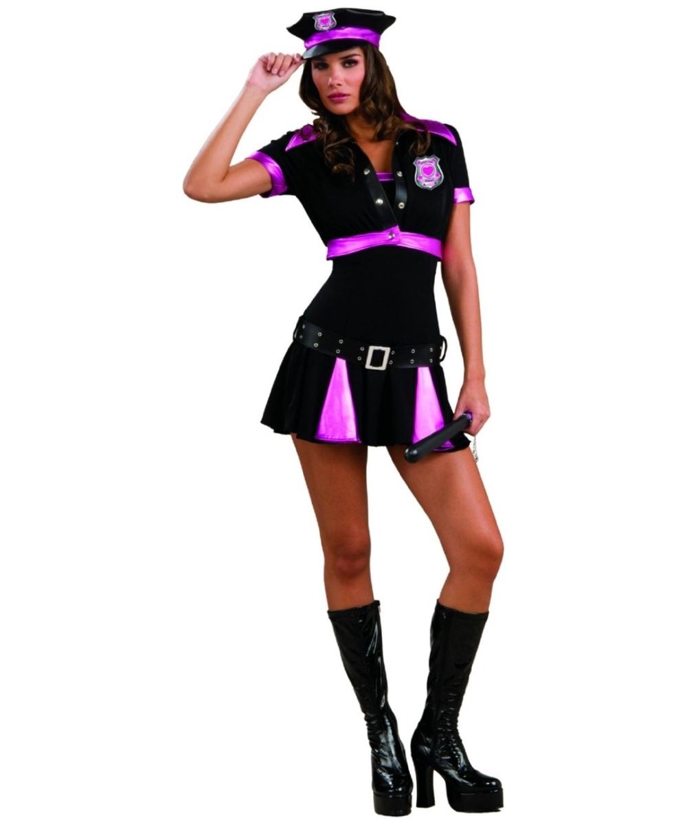 sc 1 st  Wonder Costumes & Adult Pleasure Police Sexy Costume - Women Costumes