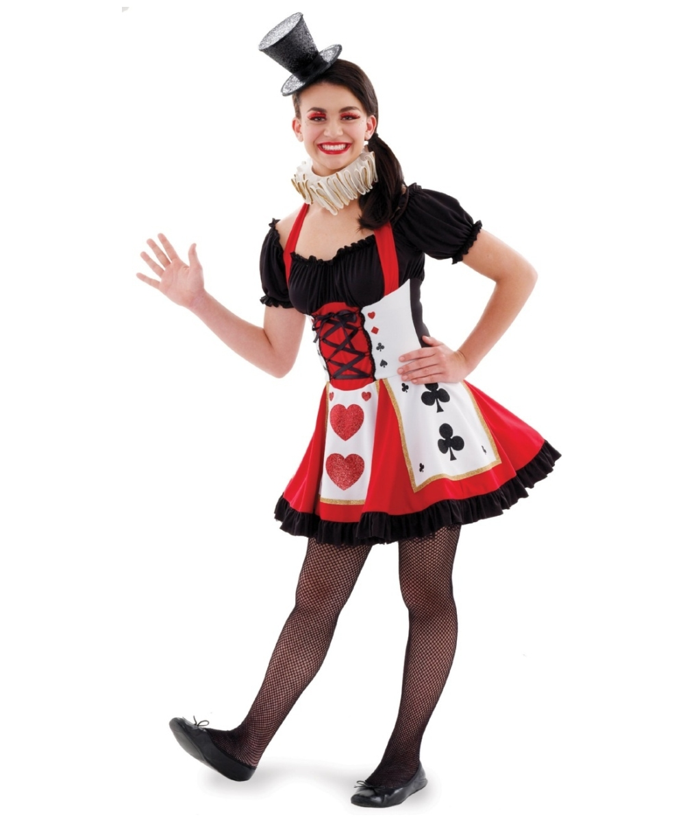 pretty playing card teen disney girl halloween costume