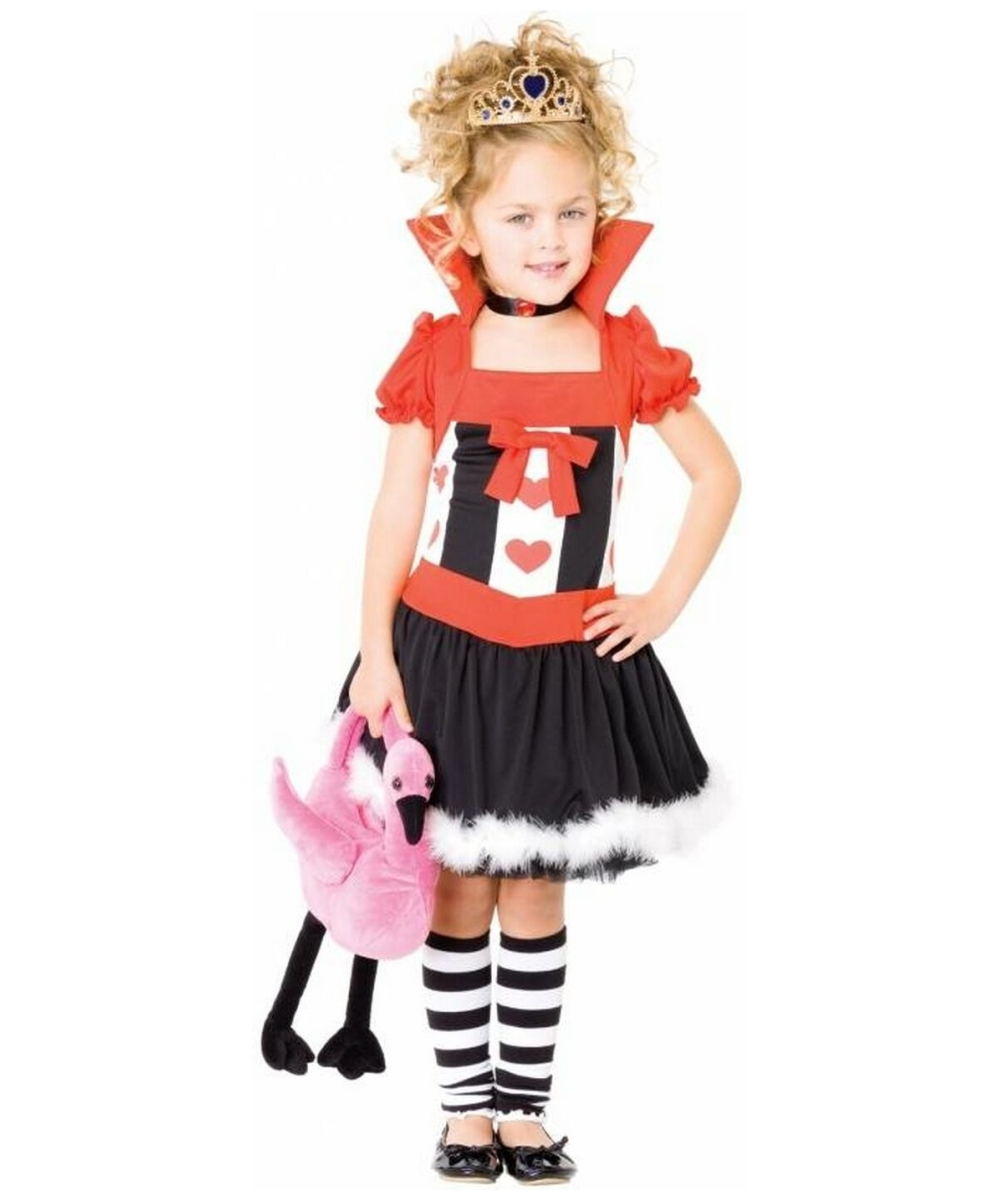 little queen of hearts kids alice movie costume