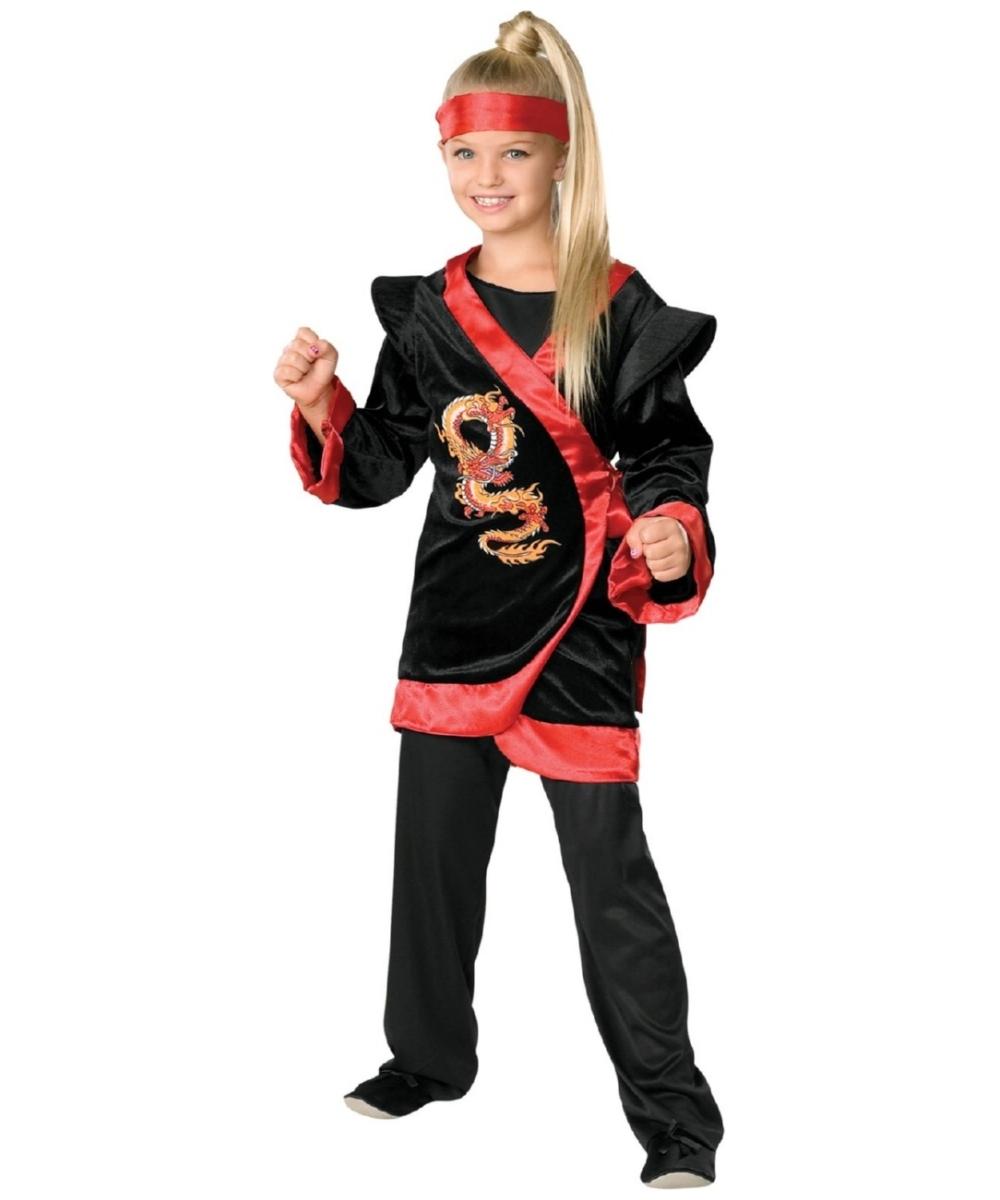 Ninja Toys For Girls : Dragon red ninja child costume girl halloween costumes