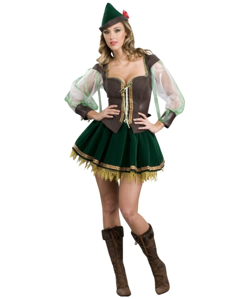 sc 1 st  Wonder Costumes & Adult Sexy Robin Hood Halloween Costume - Women Costumes