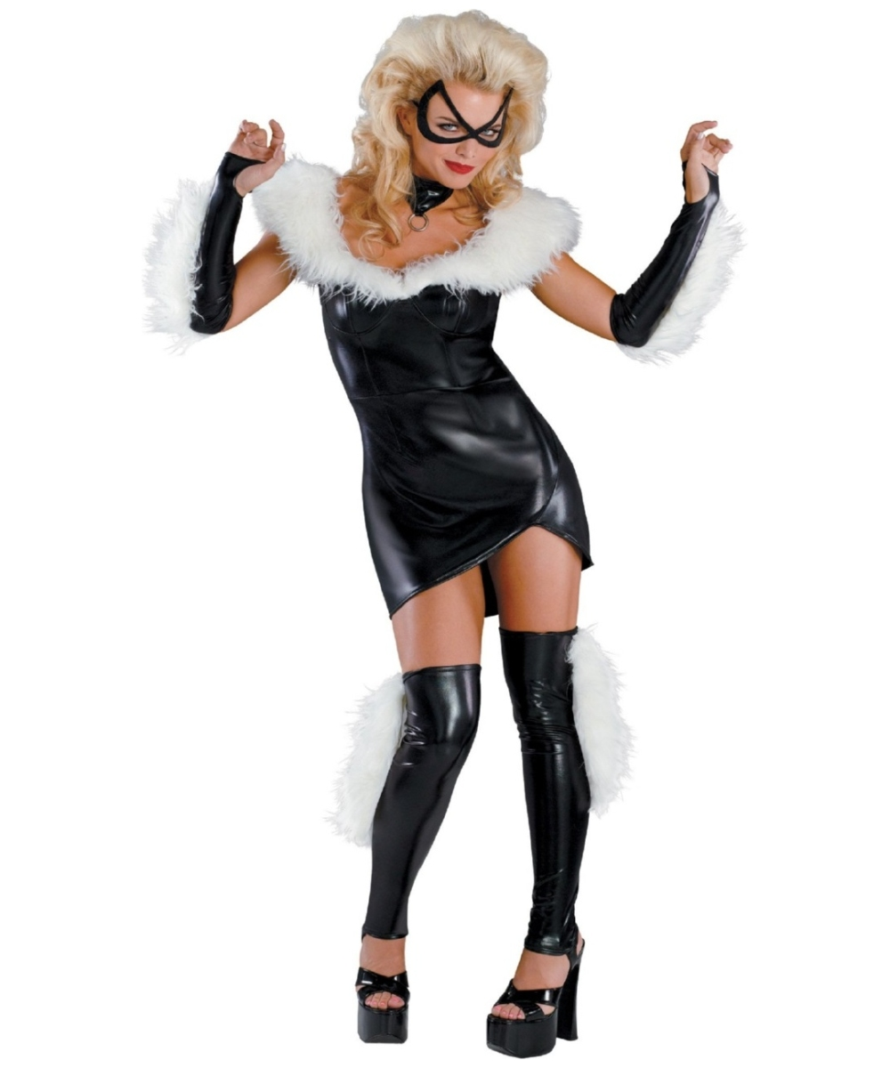 Sassy Black Cat Costume - Sexy Halloween Costumes-6867