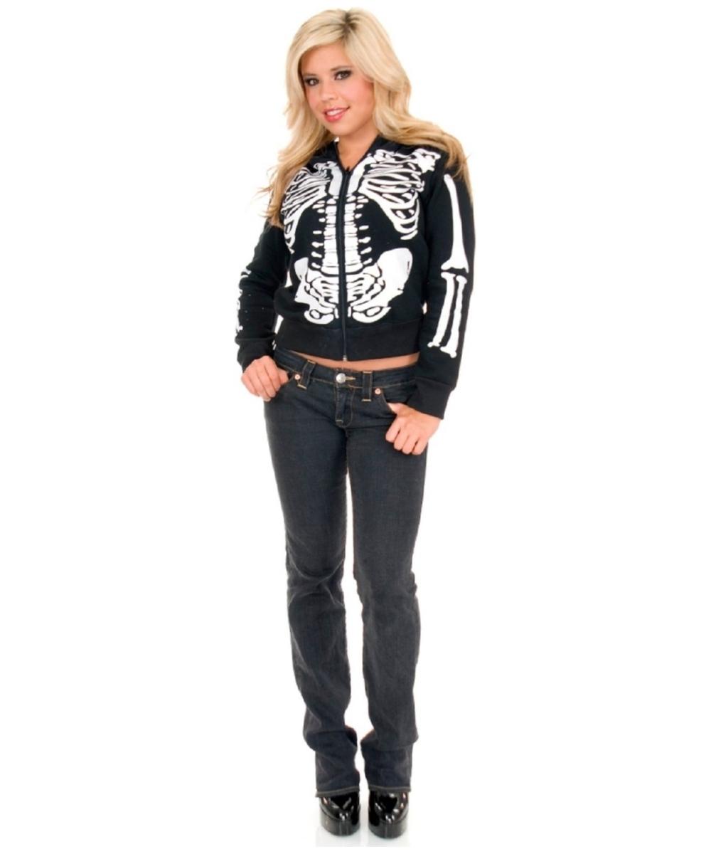 Skeleton Hoodie Costume For Teen Kids Halloween Costumes