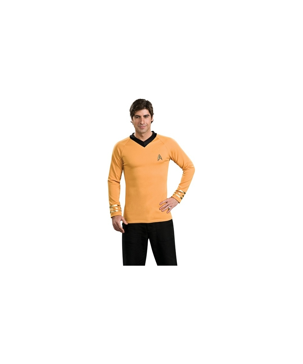 sc 1 st  Wonder Costumes & Adult Star Trek Gold Shirt - Men Halloween Costumes