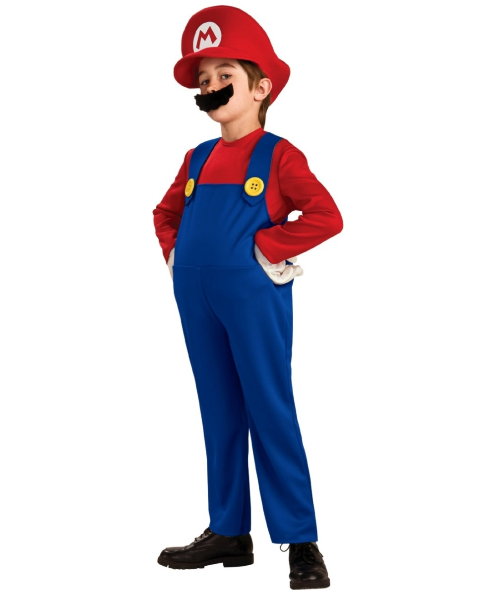 Super Mario Kids Costume Deluxe  sc 1 st  Wonder Costumes : kids super mario costume  - Germanpascual.Com