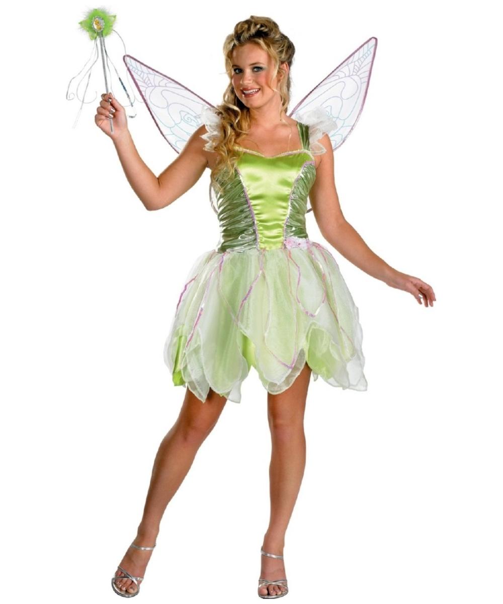 Tinkerbell Disney Teen Costume deluxe  sc 1 st  Wonder Costumes & Fairy Teen Costumes - Fairy Costume for Teens