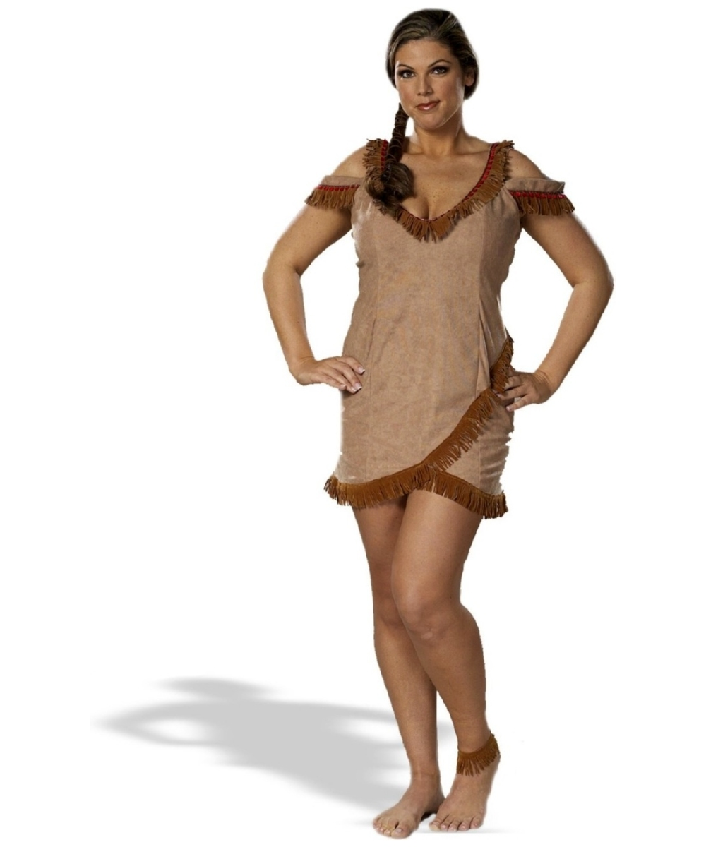 Tribal Tease Plus Size Adult Costume  sc 1 st  Wonder Costumes & Indian Tribal Tease Adult Costume - Sexy Halloween Costumes