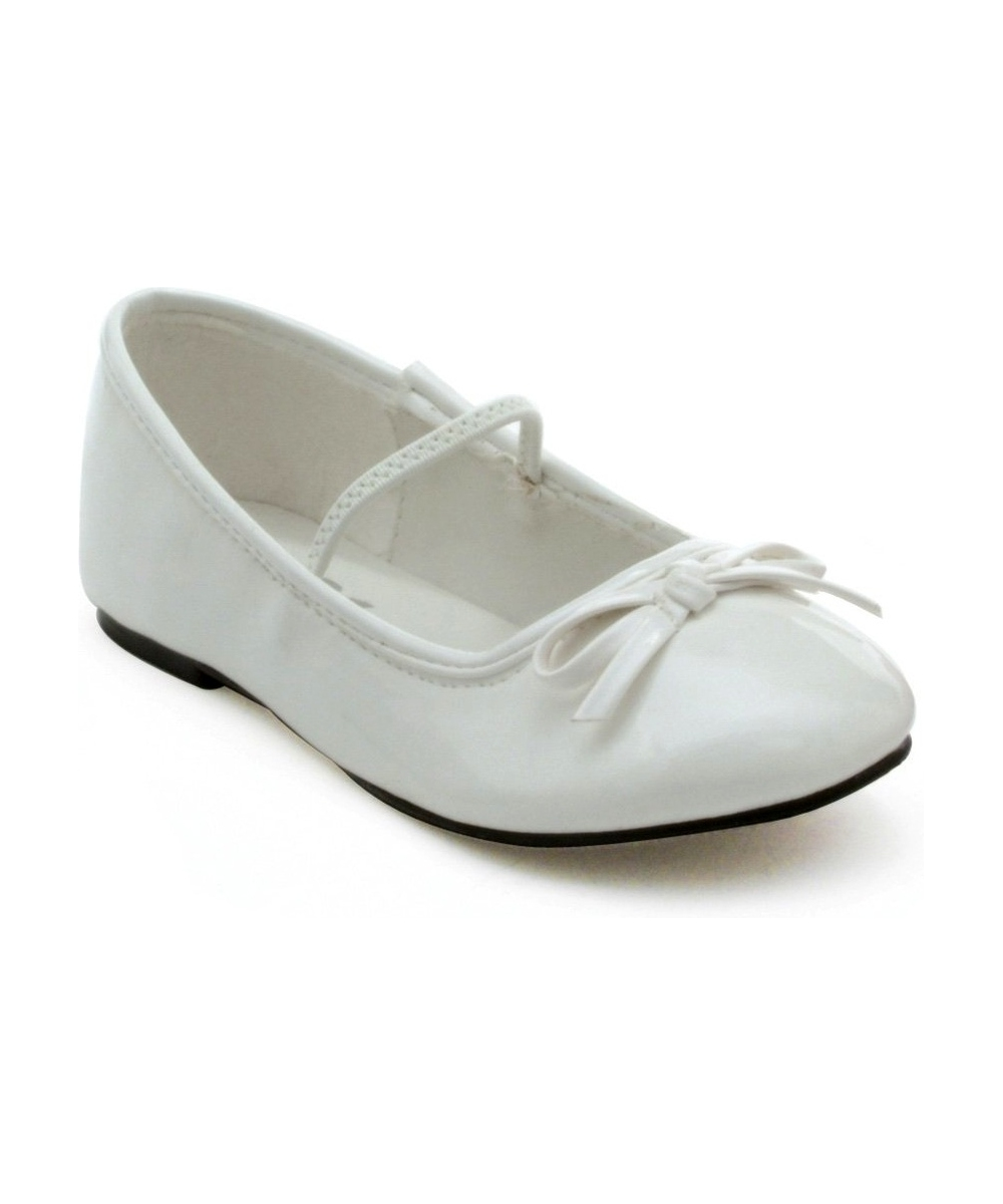 Kids Satin Ballet Shoes With Ribbon