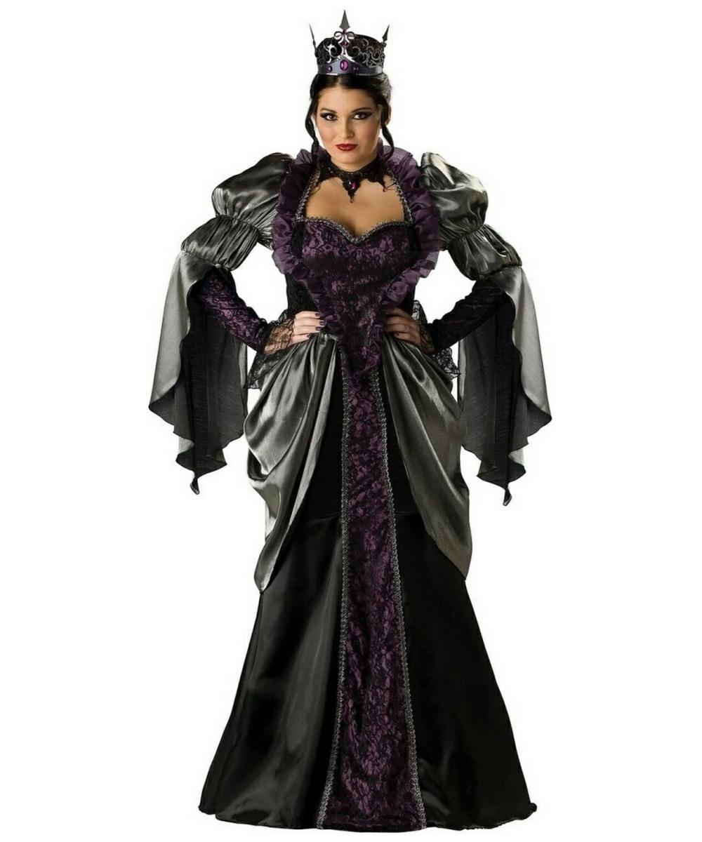 Wicked Queen Costume Plus Size - Adult Halloween Costumes-5369