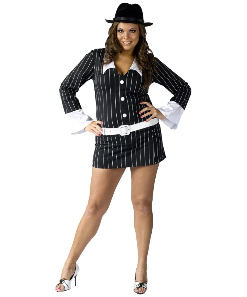 sc 1 st  Wonder Costumes & Gangster Sexy Adult Plus Size Costume - Women Halloween Costumes