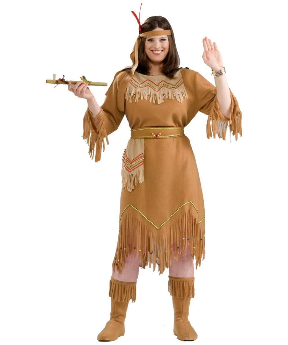Tiger Lily Womenu0027s Indian Costume Plus Size  sc 1 st  Wonder Costumes & Indian Maid Adult Costume - Women Halloween Costumes