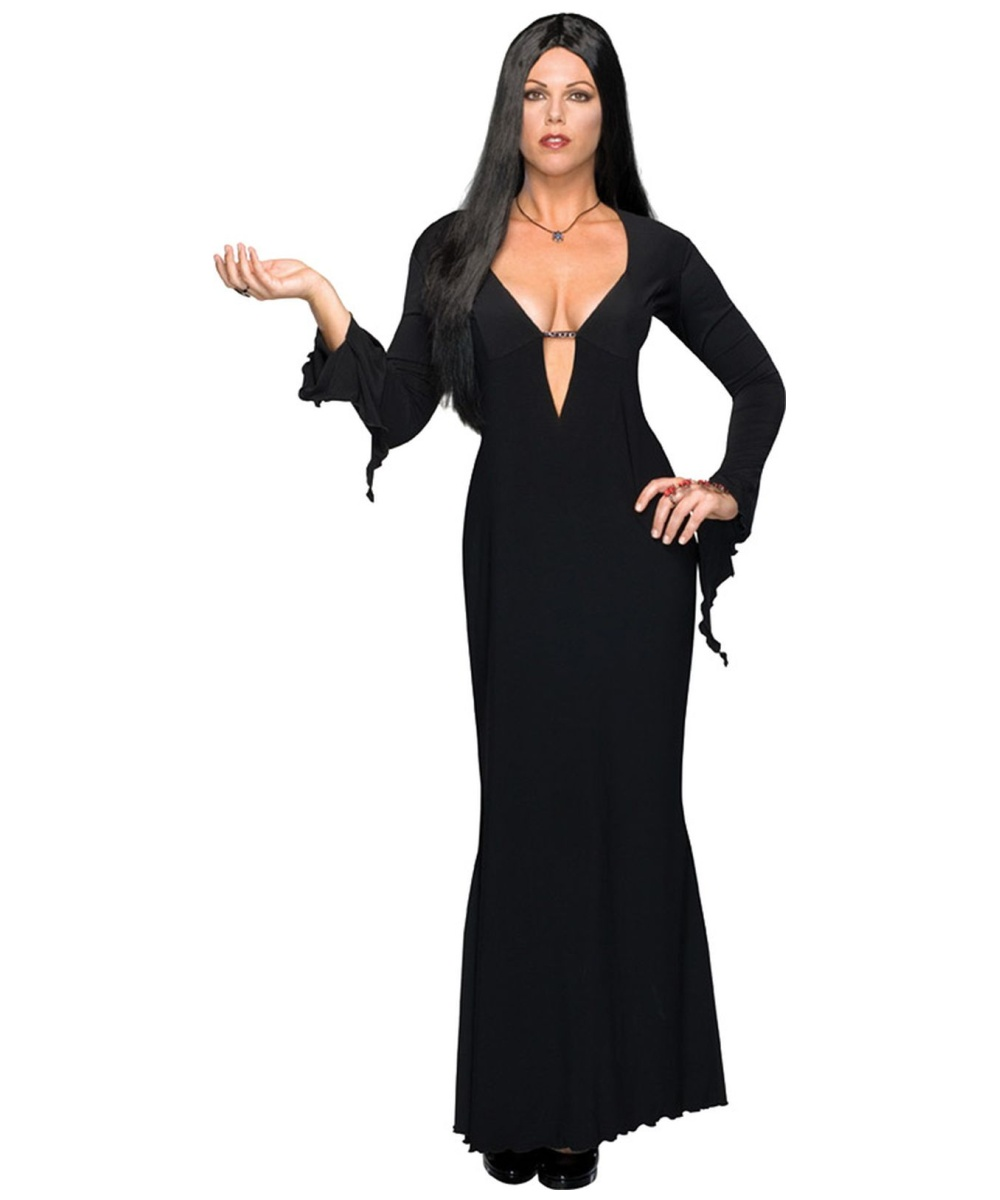 Addams Family Morticia Plus Size Costume - Adult Halloween Costumes