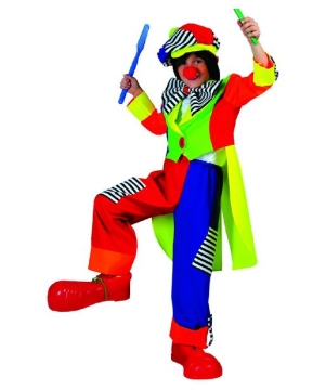 Boys Spanky Stripes Clown Costume