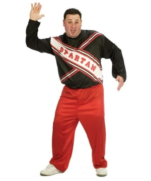 Spartan Male Cheerleader Adult plus size Costume