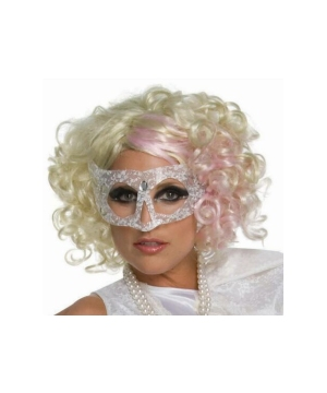Lady Gaga Curly Blonde and Pink Adult Wig