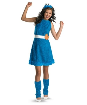 Sesame Street Cookie Monster Girls Teen Costume