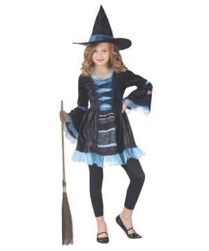 Sassy Victorian Witch Girls Costume