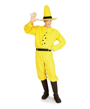 Curious George the Man in the Yellow Hat Adult Costume