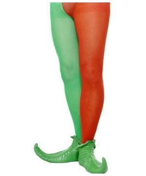Red and Green Men Tights - Adult Costume Accessory