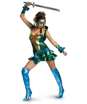 Blue Sexy Ninja Turtles Ladies Costume