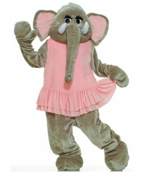 Plush Elephant Mascot Costume