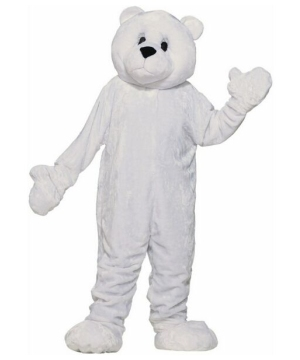 Plush Polar Bear Mascot Adult Costume