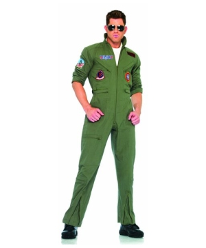 Top Gun Flight Suit Costume - Adult Costume