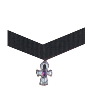 Velvet Choker Cross