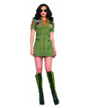 Top Gun Flight Dress Women's Costume