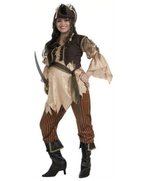 Womens Maternity Pirate Queen Costume