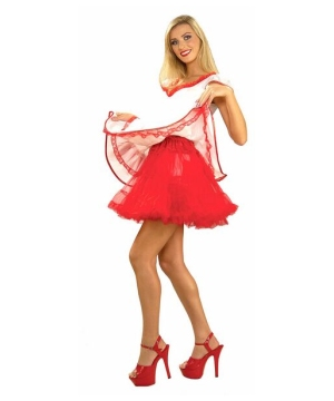 Red Petticoat Women Costume Accessory