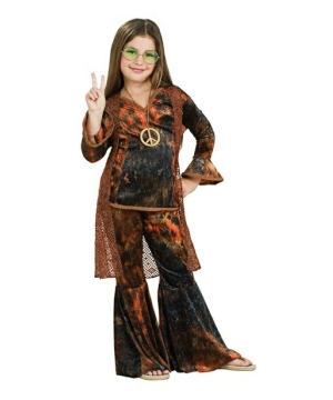 Woodstock Diva Brown Child Costume