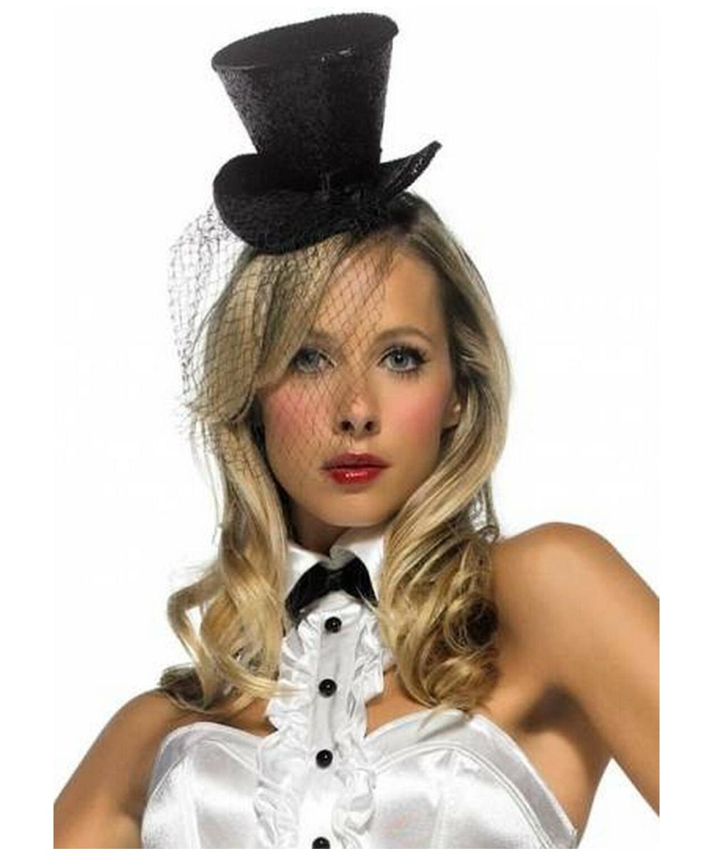 94f3e71aa44 Mini Top Hat - Adult Hat - Black - at Wonder Costumes