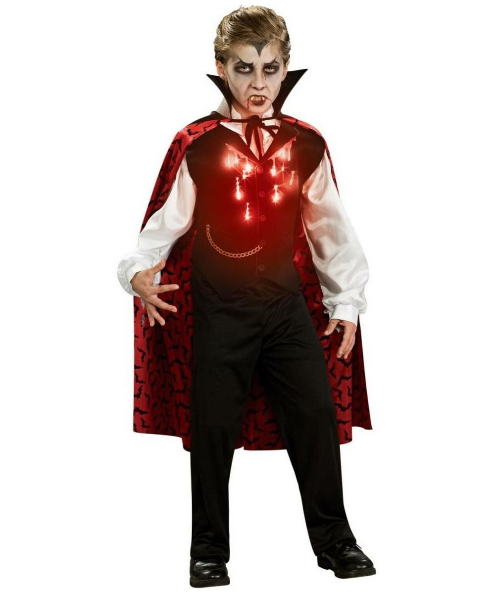 vampire lite up kids costume - boy halloween costumes