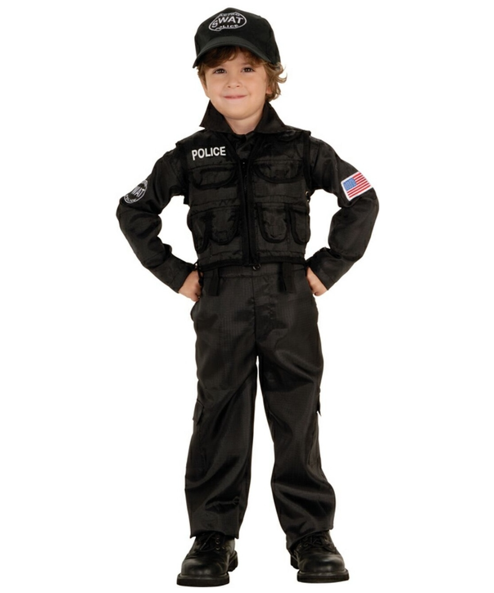 Boys Policeman Swat Costume