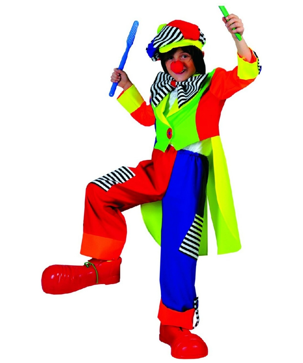 Spanky Stripes Clown Boys Costume  sc 1 st  Halloween Costumes & Clown Spanky Stripes Kids Costume - Boy Clown Costumes