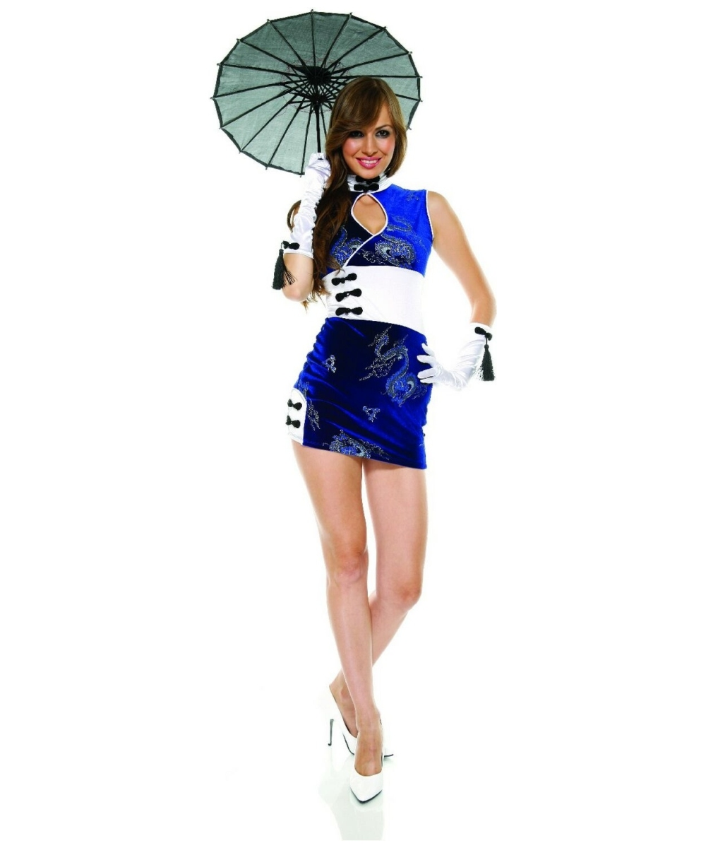 Adult China Doll Asian Halloween Costume - Women Costumes