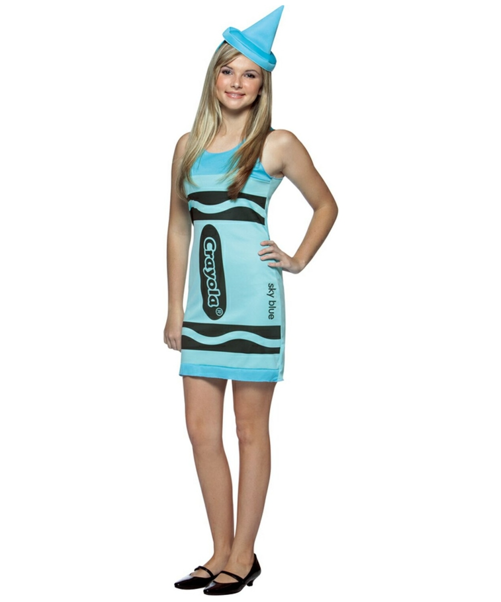 Halloween Costumes For Girls Age 10.Crayon Crayola Sky Blue Teen Costume Girl Crayola Costumes