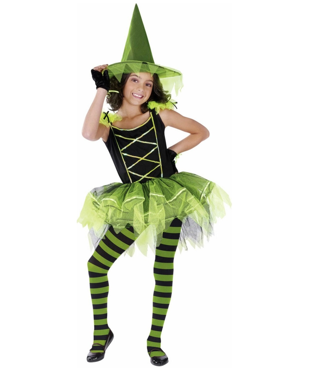 witch ballerina halloween costume - girls disney costumes