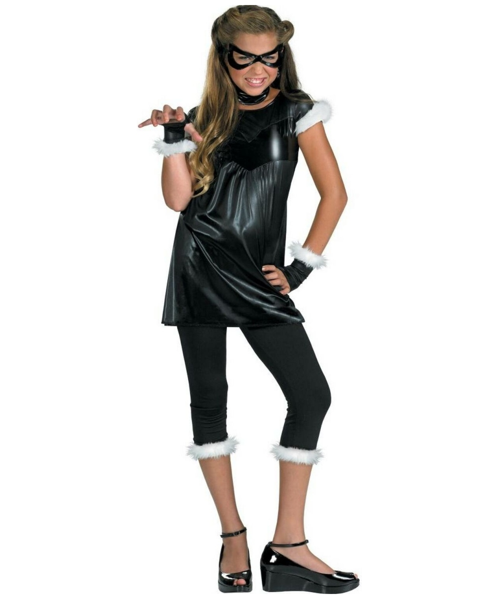 Black Cat Girl Costume - Child/teen Costume - Superhero Halloween Costume at Wonder Costumes  sc 1 st  Halloween Costumes & Black Cat Girl Costume - Child/teen Costume - Superhero Halloween ...
