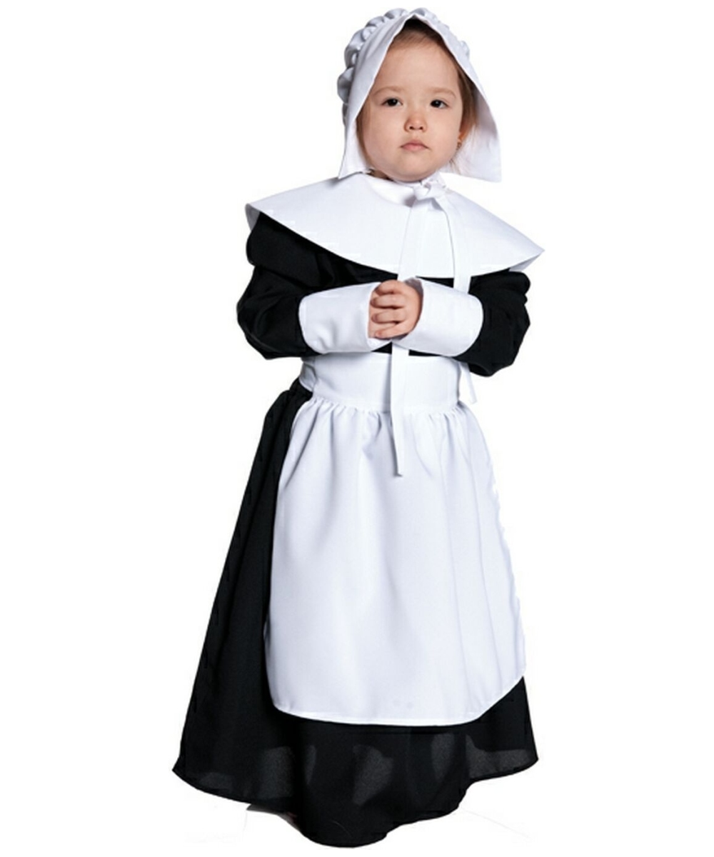 Pilgrim Girl Kids Costume - Girls Pilgrim Costumes