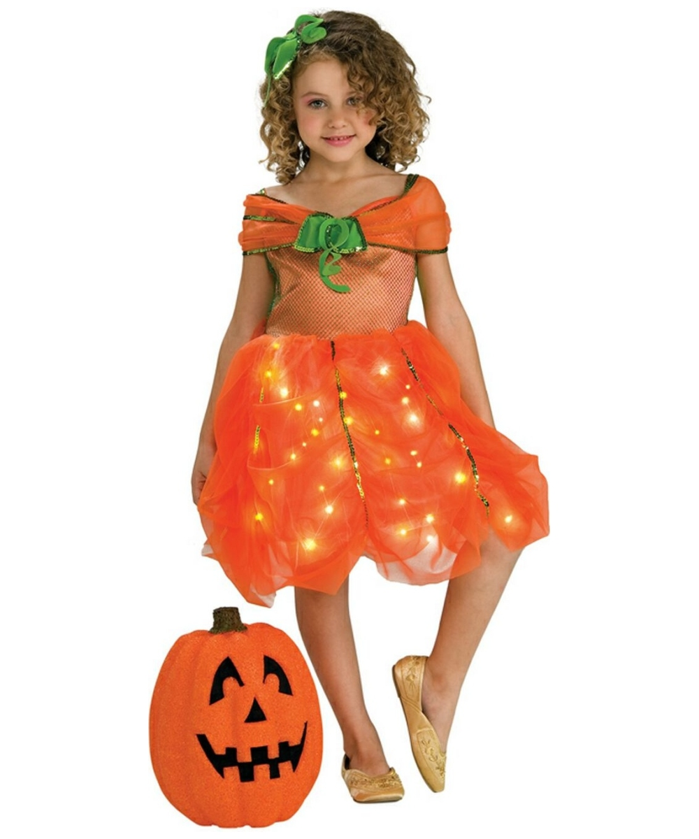 Lite Up Pumpkin Princess Girls Costume  sc 1 st  Halloween Costumes & Lite up Pumpkin Princess Kids Disney Costume - Girls Pumpkin Costumes