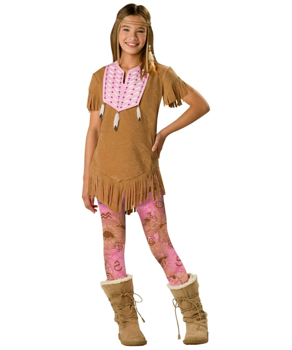Sassy Squaw Girls Indian Costume  sc 1 st  Halloween Costumes & Sassy Squaw Kids Costume - Girls Indian Costumes
