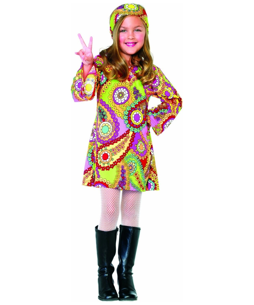 Groovy Girl Kids Costume - Kids Halloween Costumes