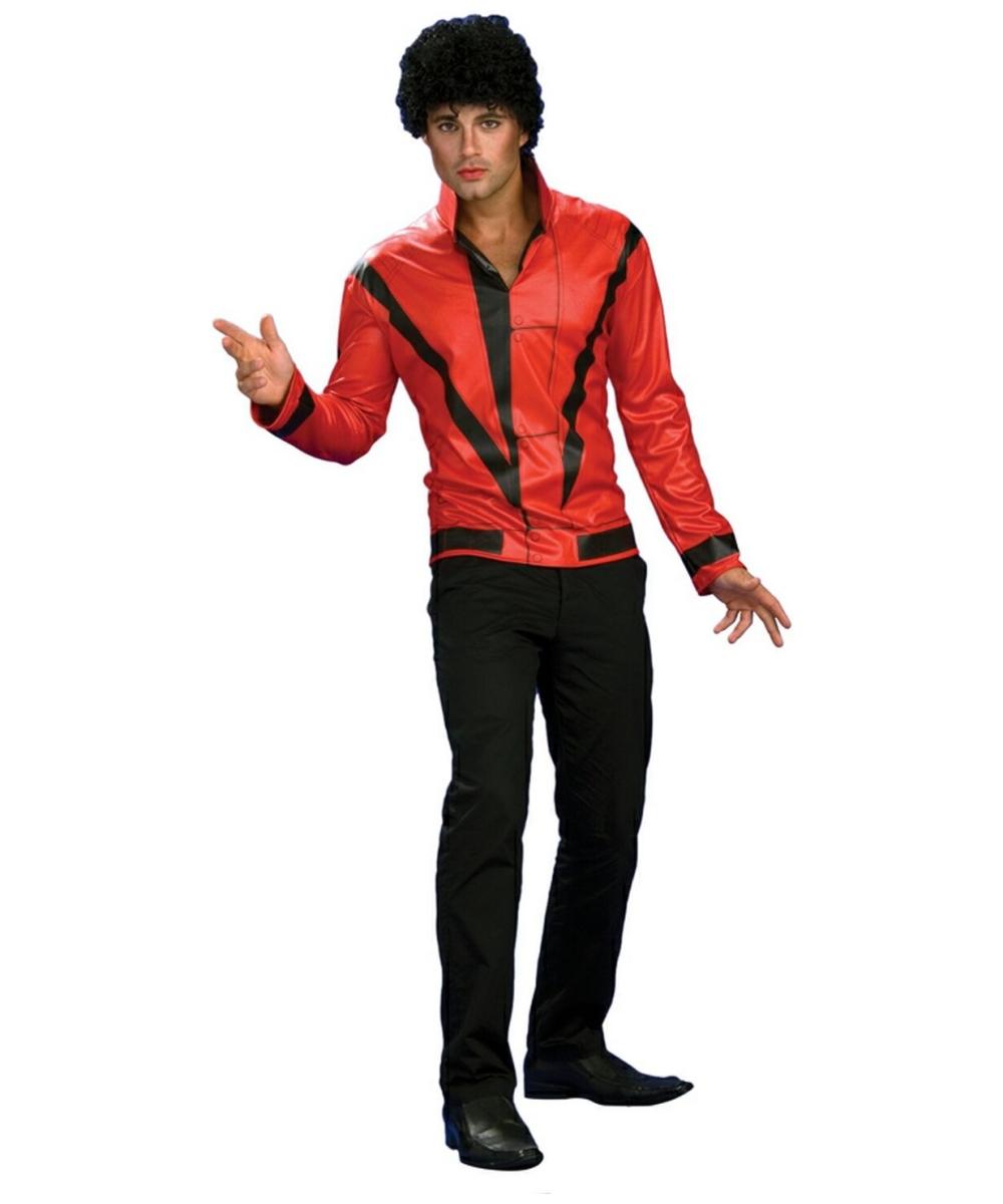 Michael Jackson Red Thriller Jacket Costume - Adult Costume - Deluxe - 80s Halloween Costume at Wonder Costumes  sc 1 st  Wonder Costumes & Michael Jackson Red Thriller Jacket Costume - Adult Costume - Deluxe ...