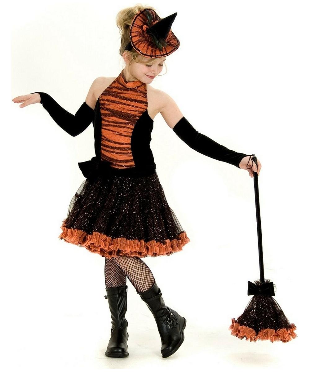 Orange Tutu Witch Costume - Kids Costume - Witch Halloween Costume ...