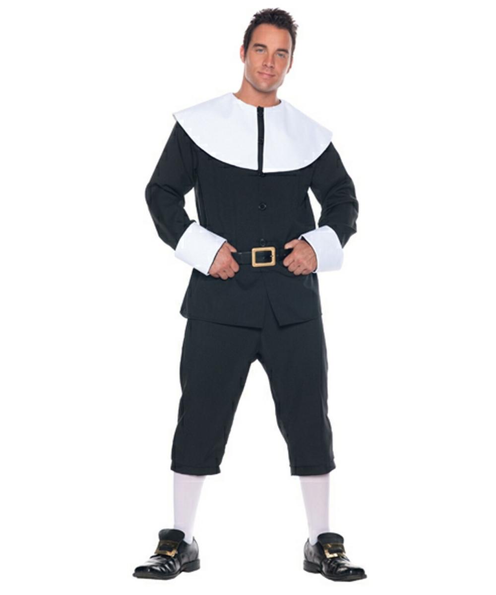 Pilgrim Man Costume - Adult Costume - Colonial Halloween Costume at Wonder Costumes  sc 1 st  Wonder Costumes & Pilgrim Man Costume - Adult Costume - Colonial Halloween Costume at ...