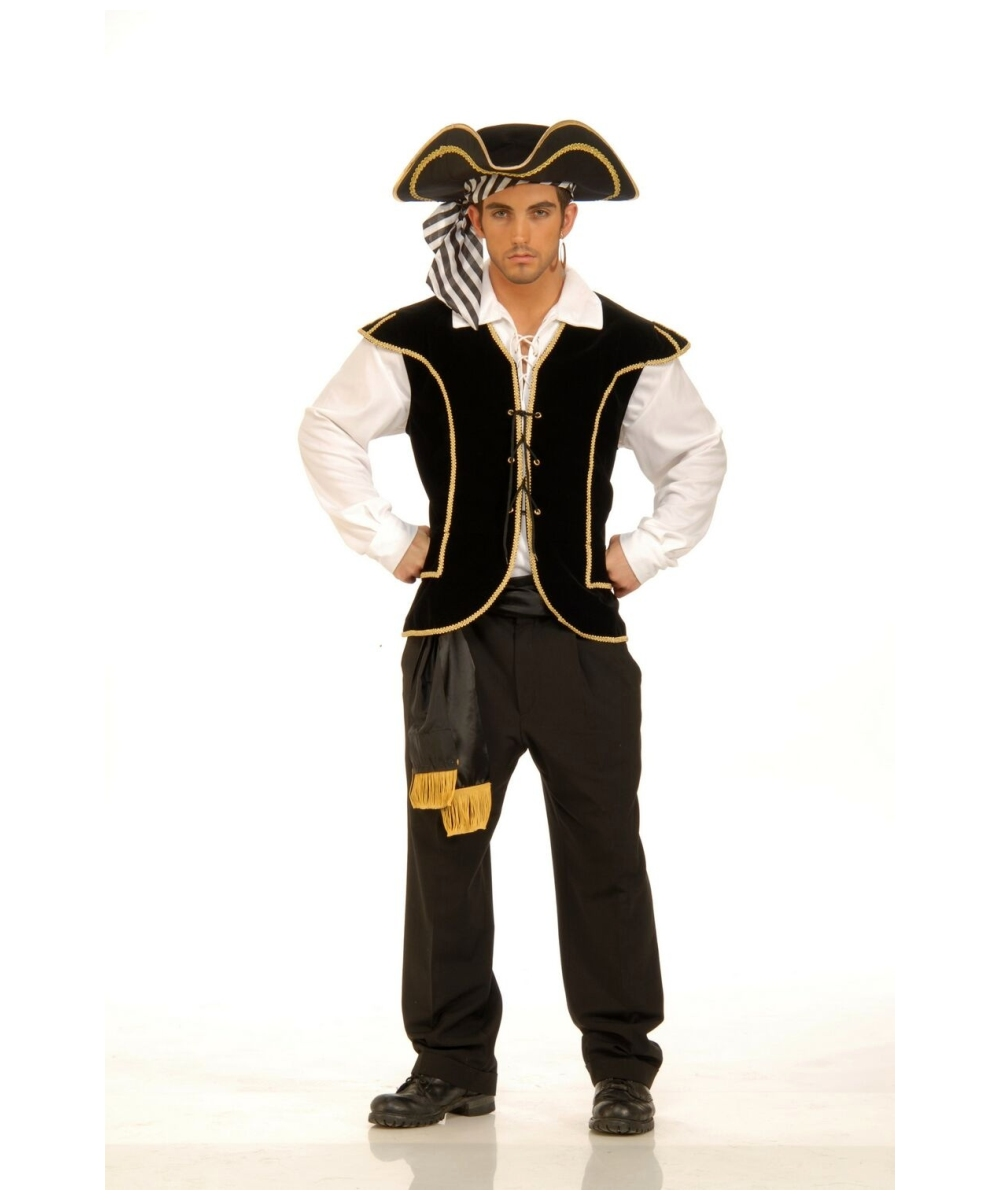 sc 1 st  Wonder Costumes & Adult Pirate Vest Male Halloween Costume - Pirate Costumes